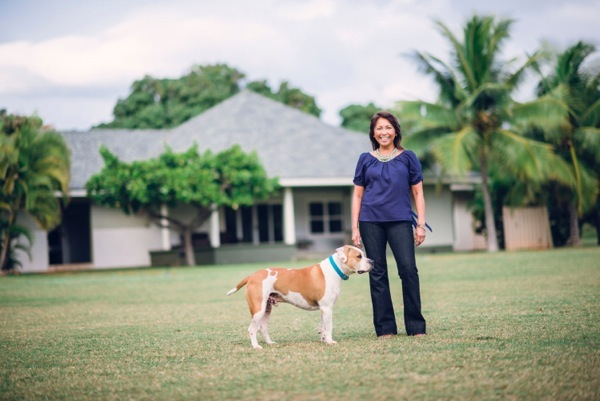 Marlene Mira Founder Mira Mira Events with dog