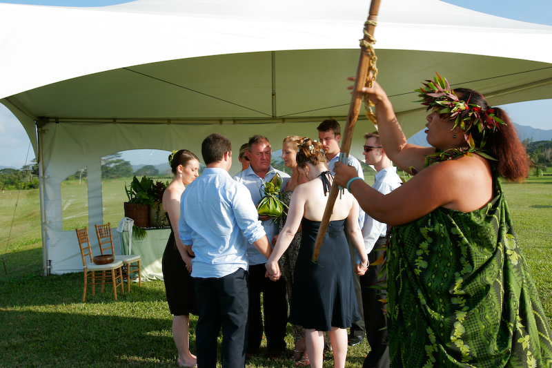 kahu and significant participants for land blessing